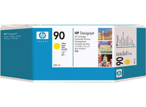 Консуматив HP 90 Standard Original Ink Cartridge; Yellow 400 ml;  ; HP DesignJet 4000, 4020, 4500, 4520
