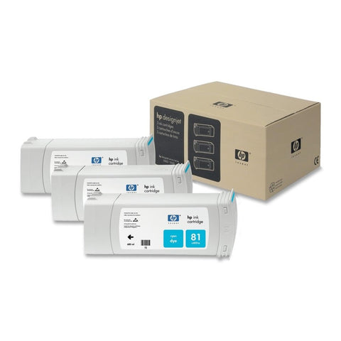Консуматив HP 81 3 - Pack Original Ink Cartridge; Cyan 680 ml;  ; HP Designjet 5000; 5500