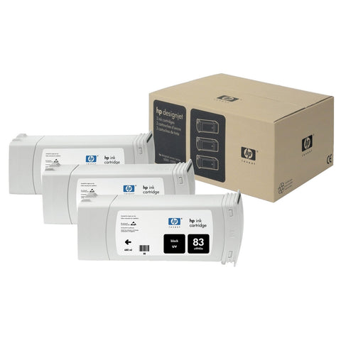 Консуматив HP 83 3 - Pack Original Ink Cartridge; Black;  ; HP Designjet 5000; 5500