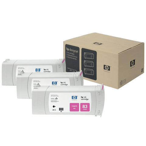 Консуматив HP 83 3 - Pack Original Ink Cartridge; Magenta;  ; HP Designjet 5000; 5500