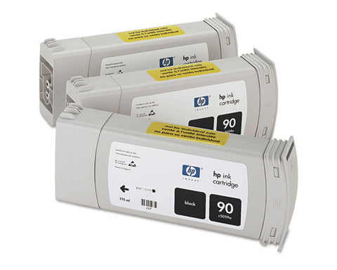 Консуматив HP 90 3 - Pack Original Ink Cartridge; Black 750 ml;  ; HP DesignJet 4000; 4500; 4020; 4520;