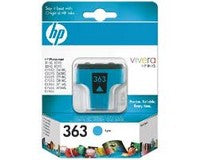 Консуматив HP 363 Standard Original Ink Cartridge; Cyan;  Page Yield 400; HP DeskJet  460 5740 5745 6520 6620 6540 6840 9800 1507 1510 1600 1610  2350 2355  100 150 K7100 7210 7310 7410 2575 2610  2710 C3170 C3180 C3190 7850 8150  8450 8450gp