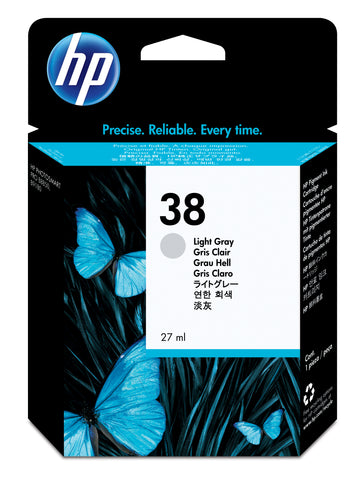 Консуматив HP 38 Standard Original Ink Cartridge; Gray;  Page Yield 320; HP PhotoSmart B8850; B9180; B9180gp