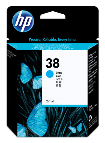 Консуматив HP 38 Standard Original Ink Cartridge; Cyan;  Page Yield 4500; HP PhotoSmart B8850; B9180; B9180gp