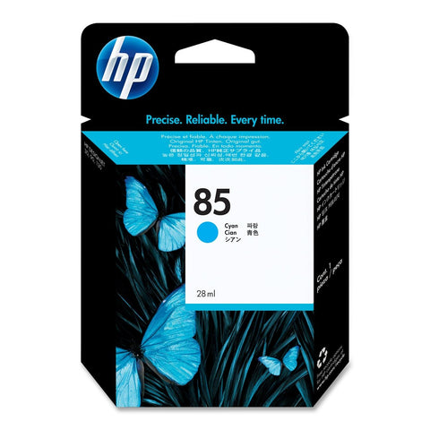 Консуматив HP 85 Standard 1-Pack Original Ink Cartridge; Cyan 28 ml;  ; HP DesignJet 30, 90, 130