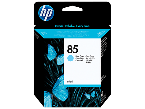 Консуматив HP 85 Standard 1-Pack Original Ink Cartridge; Light Cyan 68 ml;  ; HP DesignJet 30, 90, 130