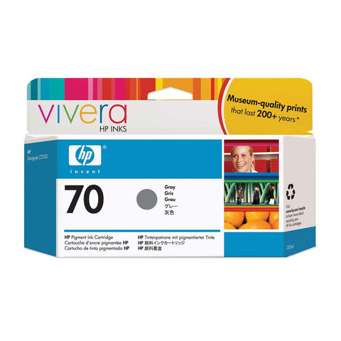 Консуматив HP 70 Standard 1-Pack Original Ink Cartridge; Grey 130 ml;  ; HP DesignJet Z3100, Z3200