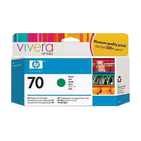 Консуматив HP 70 Standard 1-Pack Original Ink Cartridge; Green ;  ; HP DesignJet Z3100, Z3200