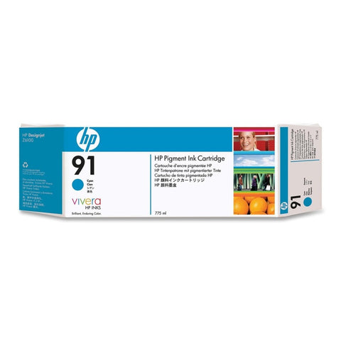 Консуматив HP 91 Standard 1-Pack Original Ink Cartridge; Cyan 775 ml;  ; HP DesignJet Z6100