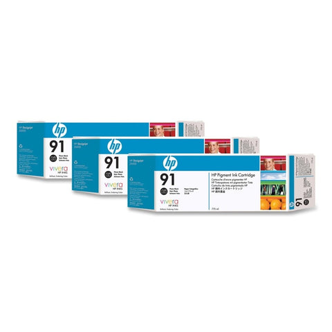 Консуматив HP 91  3 - Pack  Original Ink Cartridge; Photo Black;  ; HP Designjet Z6100