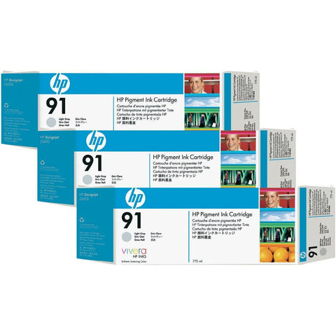 Консуматив HP 91  3 - Pack  Original Ink Cartridge; Light Grey 775 ml;  ; HP Designjet Z6100