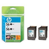 Консуматив HP 56 2-Pack Original Ink Cartridge; Black;  Page Yield 2*520; HP Deskjet 450; 5150; 4212; 5610; 6110; 1210