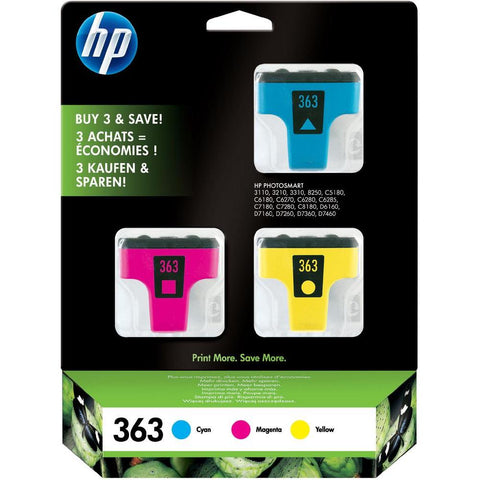 Консуматив HP 363 Combo 3Pack Original Ink Cartridge; CMY;  Page Yield 400/370/500; HP Officejet K7100; 460; 5740; 6540; 6620; 6840; 9800; 100