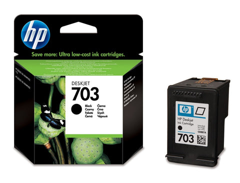 Консуматив HP 703 Standard Original Ink Cartridge; Black;  Page Yield 600;  HP Deskjet F735; K109a