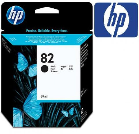 Консуматив HP 82 Standard 1-Pack Original Ink Cartridge; Black ;  ; HP DesignJet 111, 510