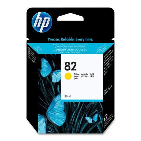 Консуматив HP 82 Standard 1-Pack Original Ink Cartridge; Yellow 25 ml;  ; HP Designjet 510; 500; 800