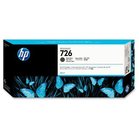 Консуматив HP 726 Standard 1-Pack Original Ink Cartridge; Matte Black;  ; HP DesignJet T795, T1200, T1300, T2300
