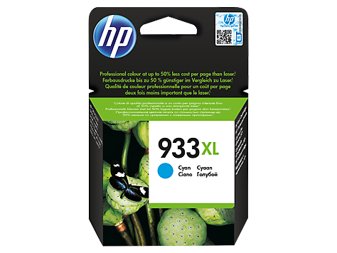 Консуматив HP 933XL Value Original Ink Cartridge; Cyan;  Page Yield 825; HP OfficeJet 6100; 6600; 6700; 7110; 7610