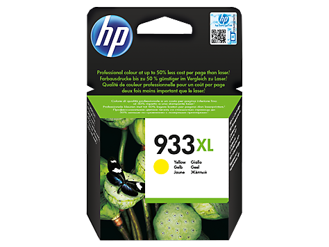 Консуматив HP 933XL Value Original Ink Cartridge; Yellow;  Page Yield 825; HP OfficeJet 6100; 6600; 6700; 7110; 7610