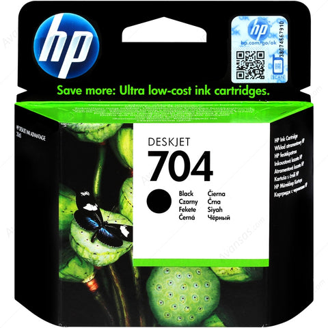 Консуматив HP 704 Original Ink Cartridge; Black;  Page Yield 480; HP DeskJet 2000; 2060; 2010; 2020
