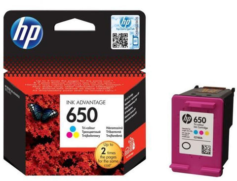 Консуматив HP 650 1-PACK Original Ink Cartridge; Tri-Color;  Page Yield 200; HP DeskJet Ink Advantage 1015; 1515; 1516;  2515; 2545; 2546; 2645; 2646; 3515