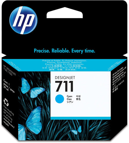 Консуматив HP 711 Standard 1-Pack Original Ink Cartridge; Cyan;  ; HP DesignJet T120, T520