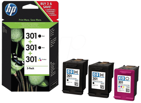 Консуматив HP 301  Combo 3Pack Original Ink Cartridge; ;  Page Yield 545;