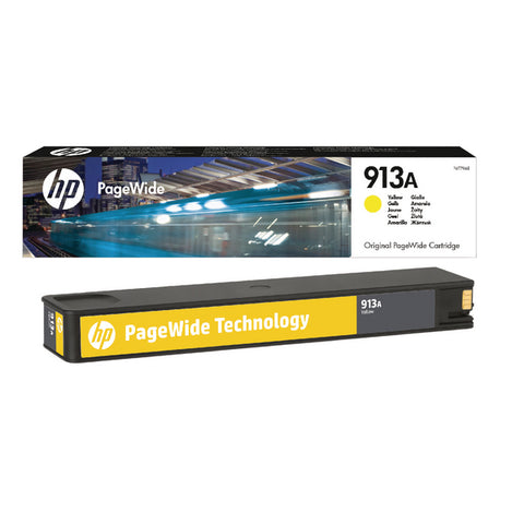 Консуматив HP 913A Standard Original Ink Cartridge; Yellow;  Page Yield 3000; HP Page Wide Pro 352; 377; 477;