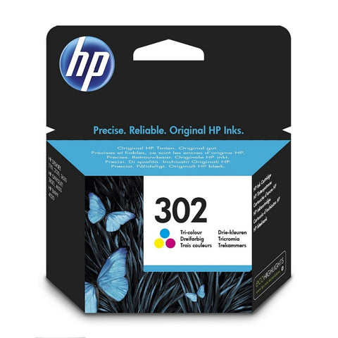 Консуматив HP 302 Standard Original Ink Cartridge; Tri-Color;  Page Yield 165;  HP DeskJet 1110 ; 2130 All-in-One; 3630;  HP ENVY 4520 All-in-One Printer; HP OfficeJet 3830/ 4650;