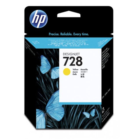 Консуматив HP 728 Standard 1-Pack Original Ink Cartridge; Yellow;  ; HP DesignJet T730, T830