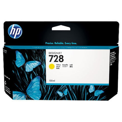 Консуматив HP 728 Standard 1-Pack Original Ink Cartridge; Yellow 130 ml;  ; HP DesignJet T730, T830