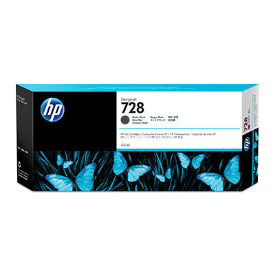 Консуматив HP 728 Standard 1-Pack Original Ink Cartridge; Black 300 ml;  ; HP DesignJet T730, T830
