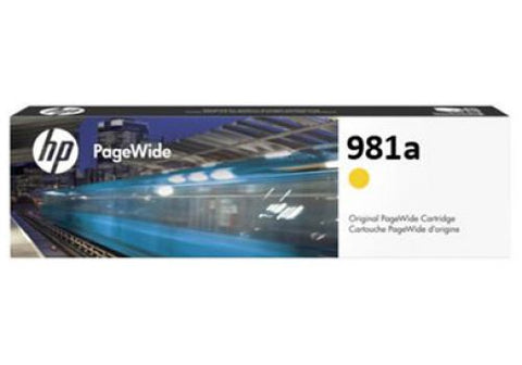 Консуматив HP 981A Standard 1-Pack Original Ink Cartridge; Yellow;  Page Yield 6000; HP PageWide Enterprise Color 556; 586;