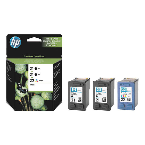 Консуматив HP21/22 Combo 3Pack Original Ink Cartridge; Minlex/Carlex 3pack;  Page Yield 190/190/165;