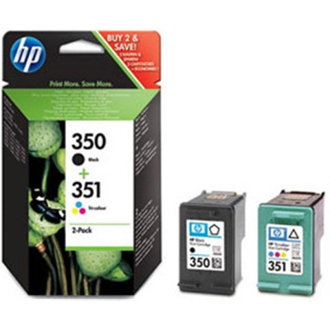 Консуматив HP 350/351 Combo 2Pack Original Ink Cartridge; ;  Page Yield 200/170;