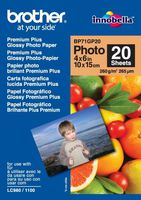 "Paper BROTHER Premium Plus Glossy Photo Paper, 20 Sheets, 4"" x 6"""