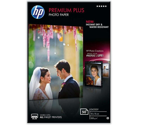 Хартия HP Premium Plus Glossy Photo Paper white 300g/m2 100x150mm 50 sheets 1-pack