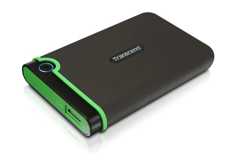 Твърд диск Transcend StoreJet 25M3 USB 3.0 2.5 2TB (SATA) Rubber Case Anti-Shock Iron Gray