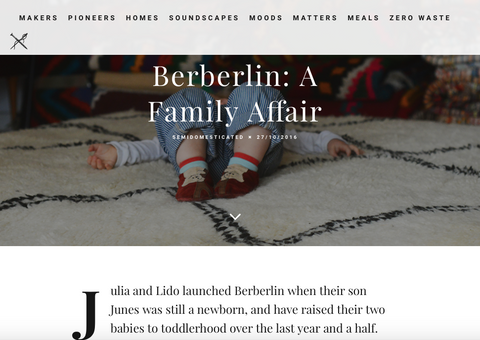 Semidomesticated über Berberlin Berber Teppiche: A family affair