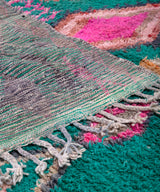 Modern designer handcrafted Berber rug from morocco Boujad with beautiful colors and patterns