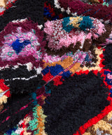 Modern designer handcrafted Berber rug from morocco Boucherouite with beautiful colors and patterns