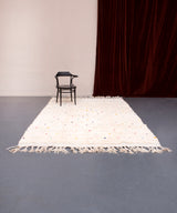 Modern designer handcrafted Berber rug from morocco Beniourain with beautiful colors and patterns