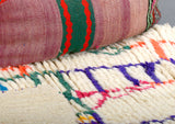 Modern designer handcrafted Berber rug  from morocco Azilal with beautiful colours and patterns