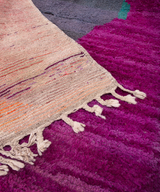 Modern designer handcrafted Berber rug from morocco Boujed with beautiful colors and patterns