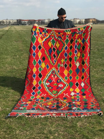 Modern designer handcrafted Berber rug  from morocco Vintage Berber with beautiful colors and patterns