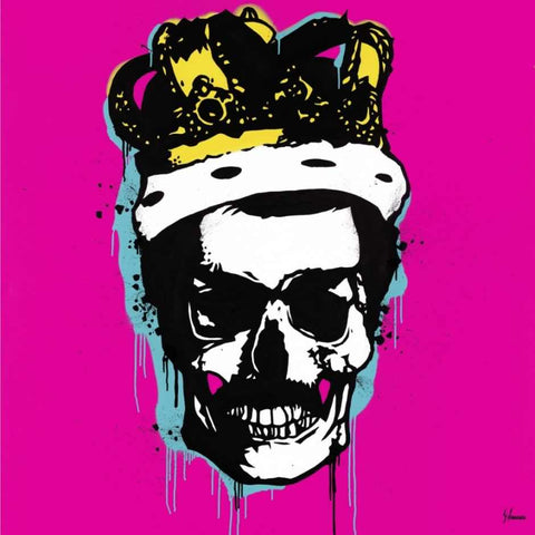 Queen Freddy mercury skull art George ioannou
