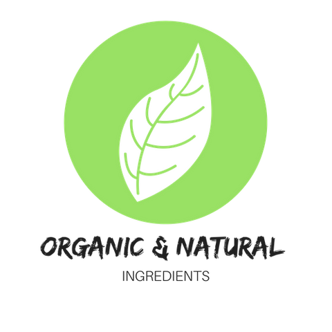 organic beauty products logo leaf