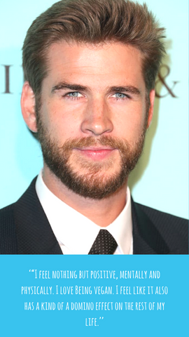 Liam HEMSWORTH Vegan quote