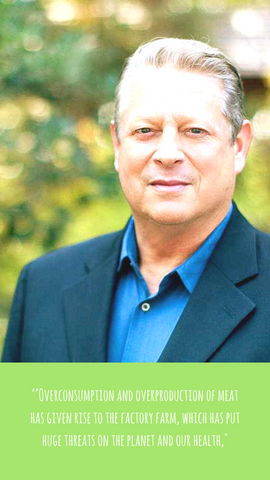 Al gore Vegan quote