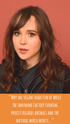 Ellen page quote vegan